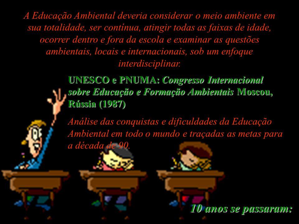 Programa Internacional de Educação Ambiental (P.I.E.A.) Belgrado, Iugoslávia (1975): Programa Internacional de Educação Ambiental (P.I.E.A.) (Princípi
