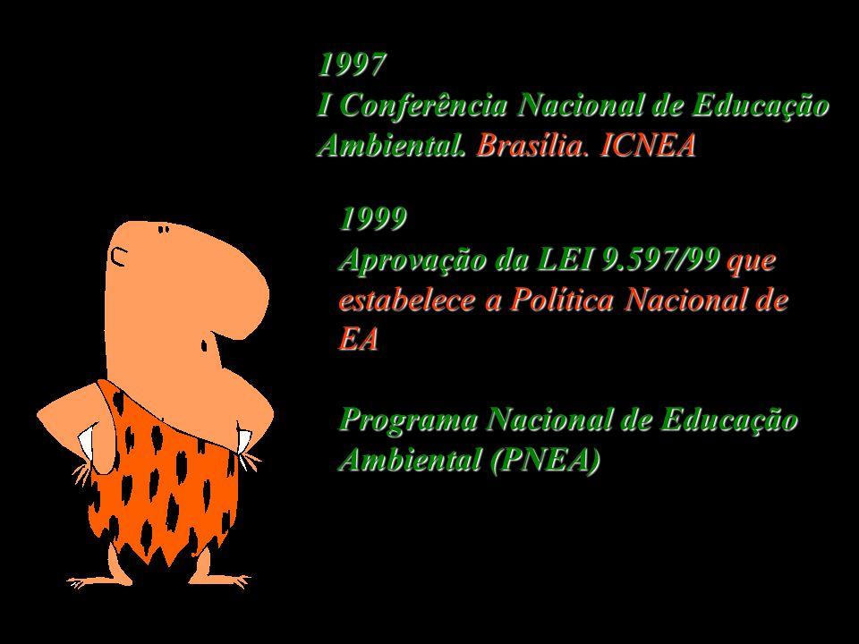 1996 Novos Parâmetros Curriculares do MEC, nos quais incluem a Educação Ambiental como tema transversal do currículo.