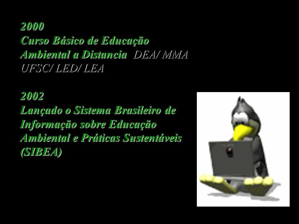 1997 I Conferência Nacional de Educação Ambiental.Brasília. ICNEA I Conferência Nacional de Educação Ambiental. Brasília. ICNEA 1999 Aprovação da LEI
