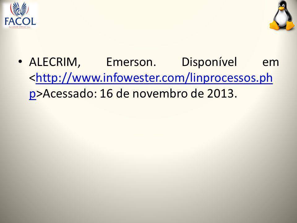 ALECRIM, Emerson.