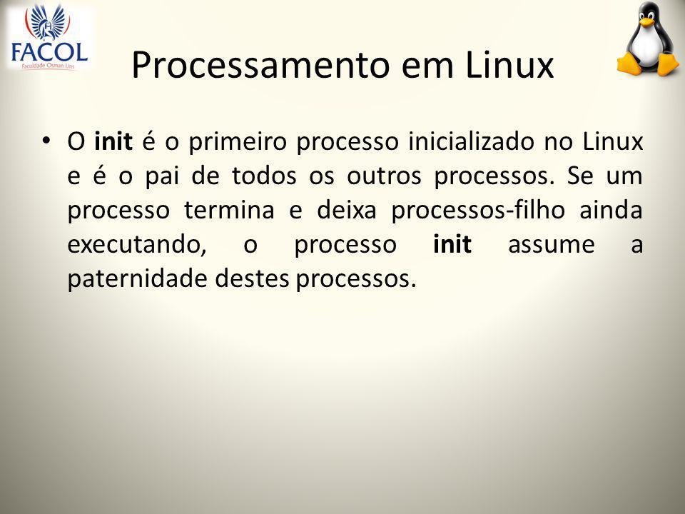 PID e PPID Um PID (Process Identifier) é um número de identificação que o sistema dá a cada processo.