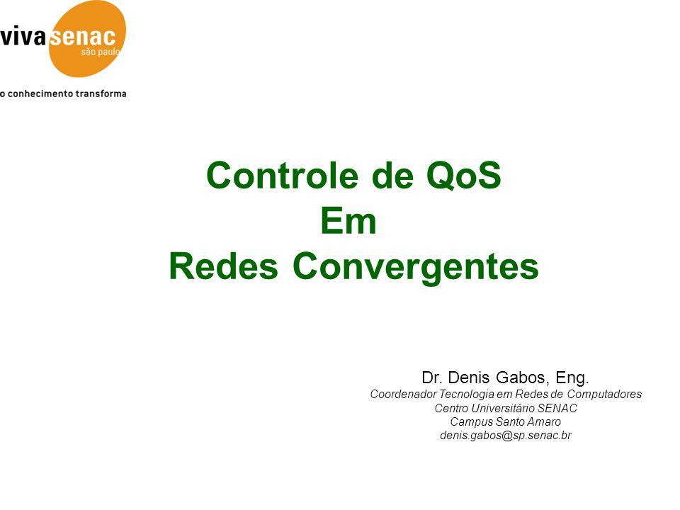 Controle de QoS Em Redes Convergentes Dr.Denis Gabos, Eng.