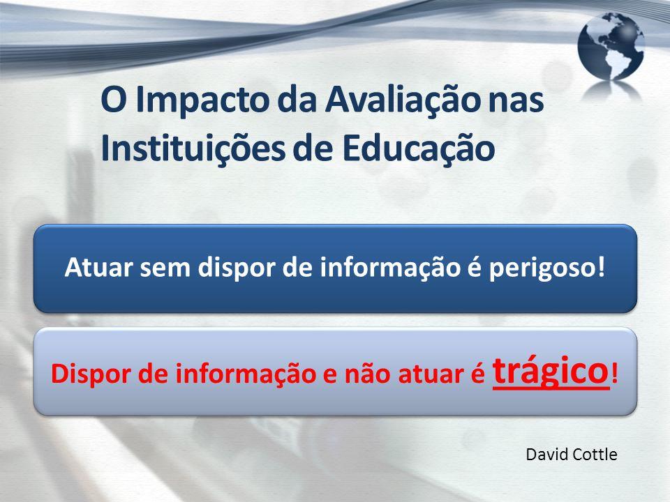 Atuar sem dispor de informação é perigoso. Dispor de informação e não atuar é trágico .