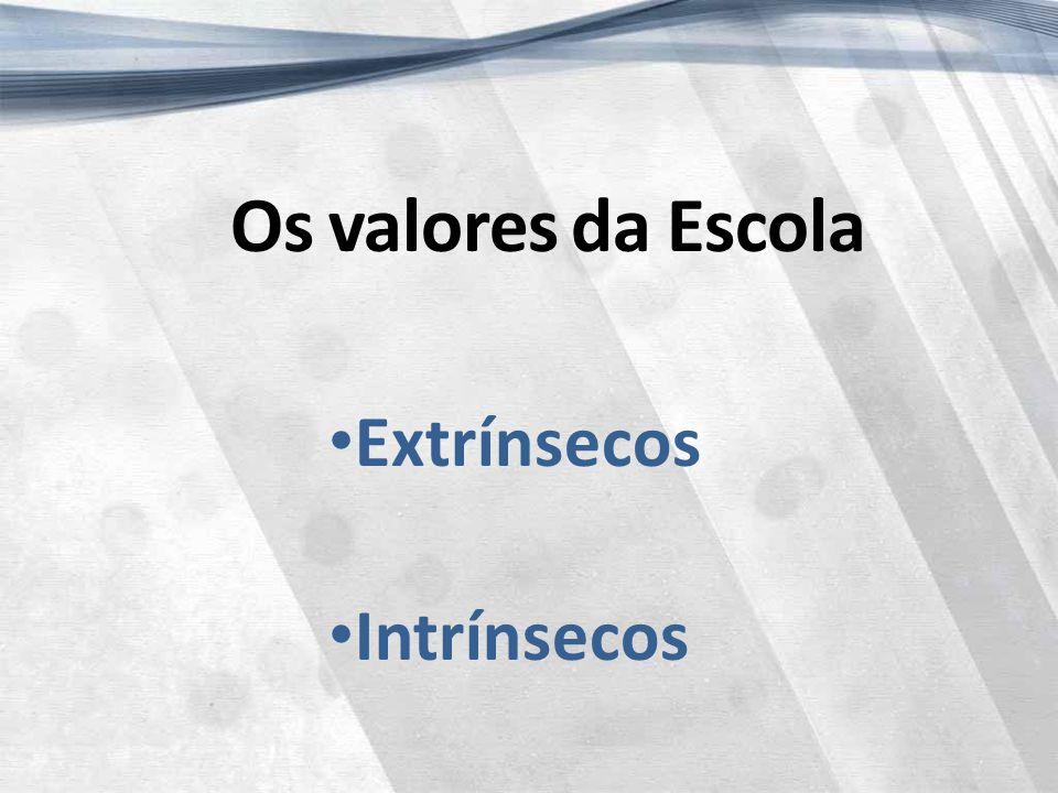 Os valores da Escola Extrínsecos Intrínsecos