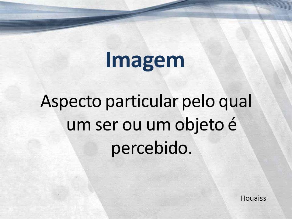 Imagem Aspecto particular pelo qual um ser ou um objeto é percebido. Houaiss