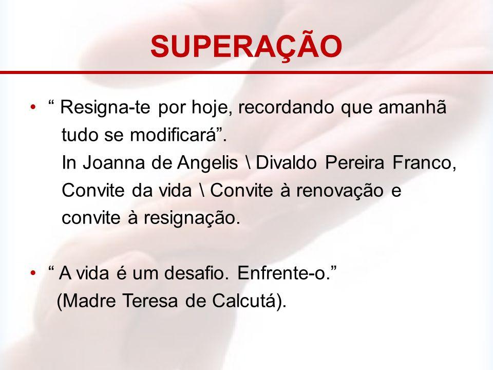 """SUPERAÇÃO """" Resigna-te por hoje, recordando que amanhã tudo se modificará"""". In Joanna de Angelis \ Divaldo Pereira Franco, Convite da vida \ Convite à"""