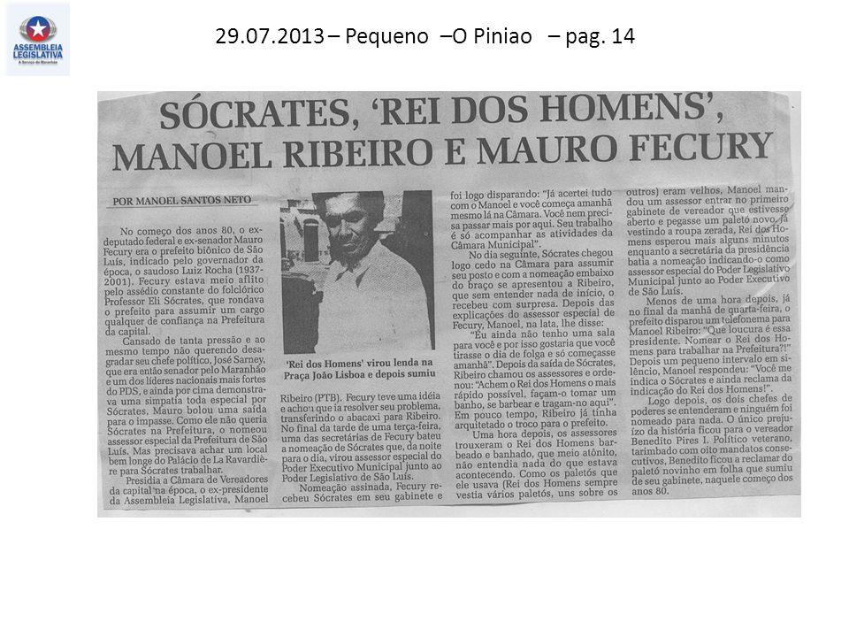 29.07.2013 – Pequeno –O Piniao – pag. 14