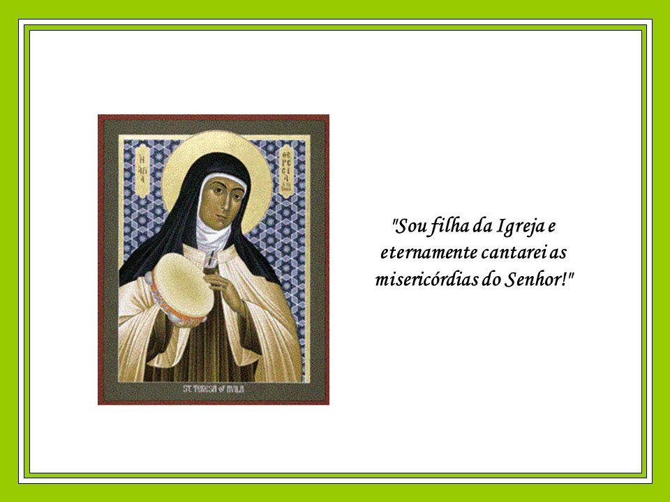 Santa Teresa morreu em 1582, na idade de 67 anos. Logo após sua morte, o corpo da Santa exalava um perfume deliciosíssimo. Seu coração, apresentando l