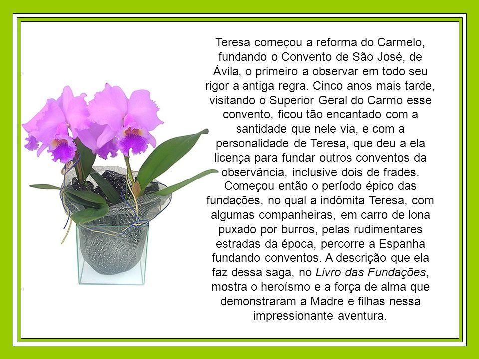 Teresa começou a reforma do Carmelo, fundando o Convento de São José, de Ávila, o primeiro a observar em todo seu rigor a antiga regra.
