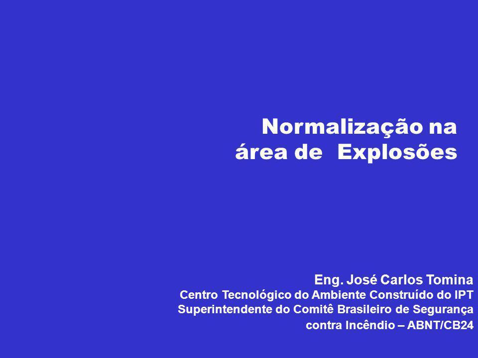 Eng. José Carlos Tomina Centro Tecnológico do Ambiente Construído do IPT Superintendente do Comitê Brasileiro de Segurança contra Incêndio – ABNT/CB24