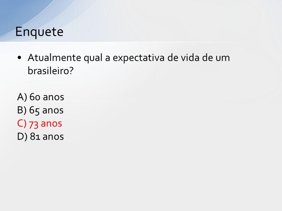 Atualmente qual a expectativa de vida de um brasileiro.