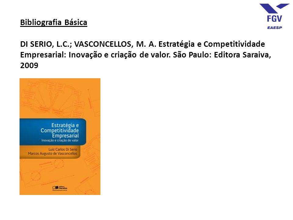 Bibliografia Básica DI SERIO, L.C.; VASCONCELLOS, M. A. Estratégia e Competitividade Empresarial: Inovação e criação de valor. São Paulo: Editora Sara