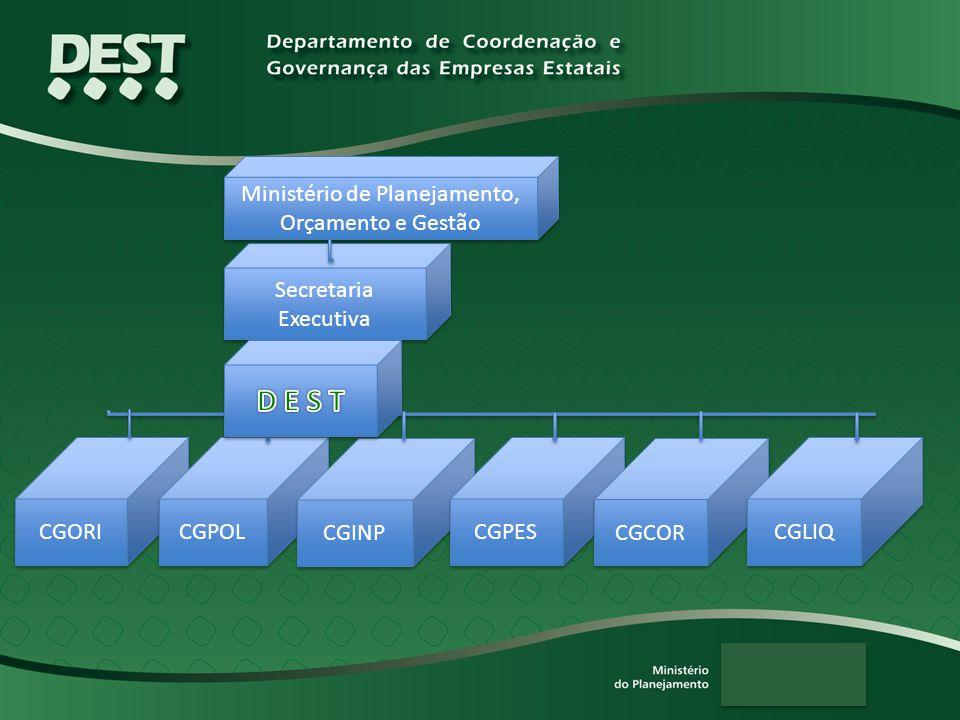 Secretaria Executiva CGORI Ministério de Planejamento, Orçamento e Gestão CGPOL CGINP CGPES CGCOR CGLIQ