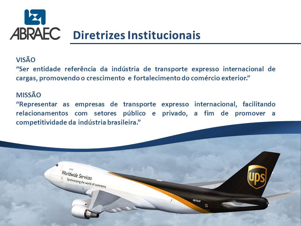 """VISÃO """"Ser entidade referência da indústria de transporte expresso internacional de cargas, promovendo o crescimento e fortalecimento do comércio exte"""