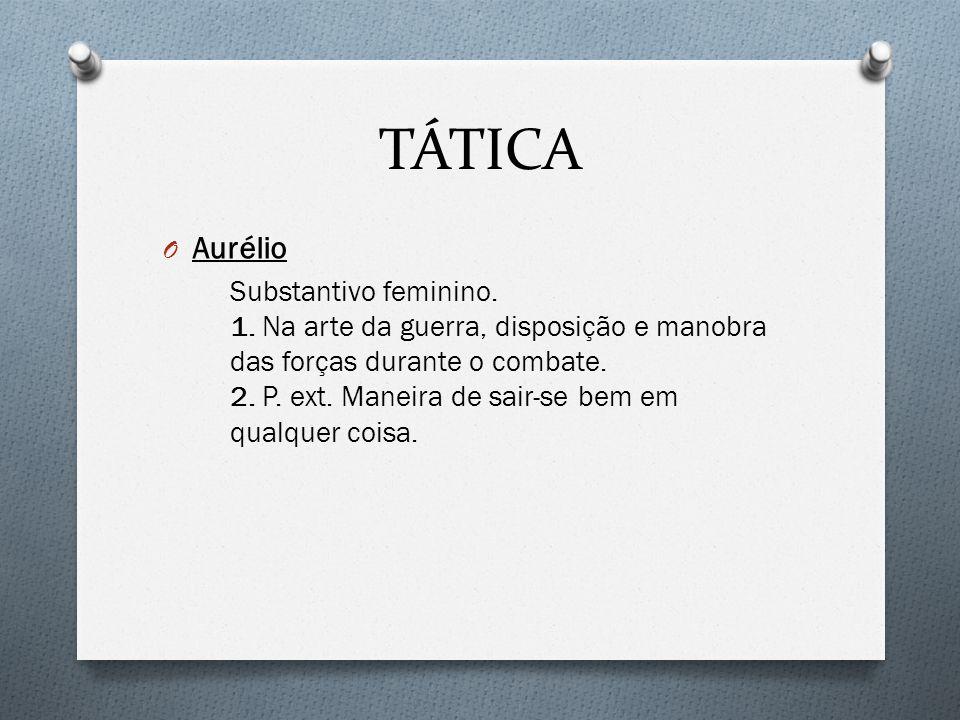 TÁTICA O Aurélio Substantivo feminino.1.