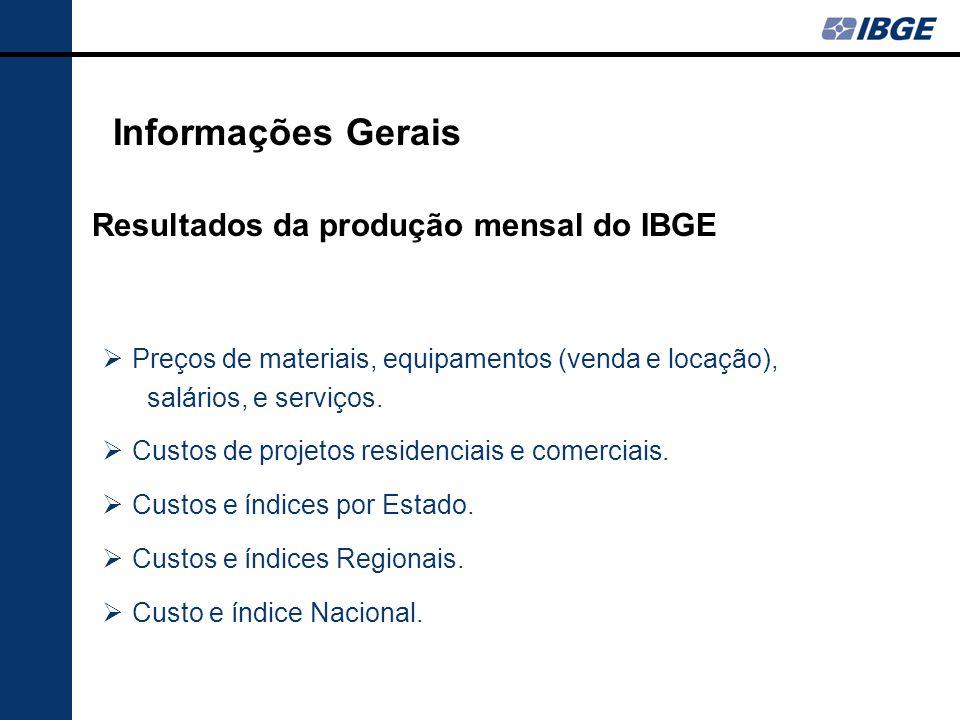Elaboração e avaliação de orçamentos Acompanhamento de custos Reajuste de contratos Adequação de materiais Informações Gerais Aplicações