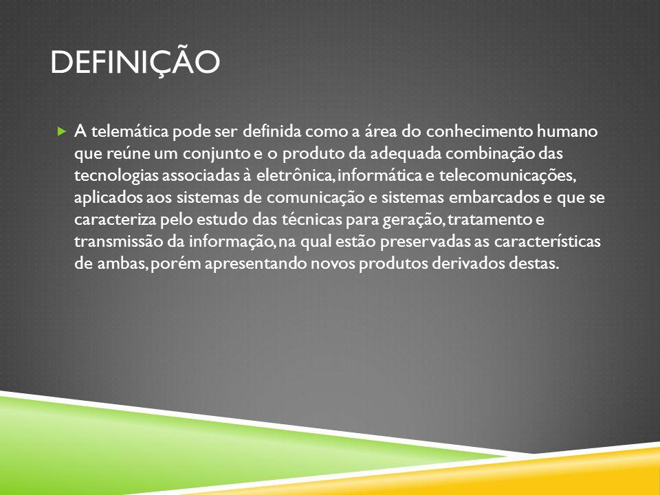 REFERÊNCIAS  http://lsm.dei.uc.pt/ribie/docfiles/txt200352145435TELEMÁTICA%20um %20novo%20canal.pdf http://lsm.dei.uc.pt/ribie/docfiles/txt200352145435TELEMÁTICA%20um %20novo%20canal.pdf  http://www.ifce.edu.br/extensao/central-de-estagios-e-empregos/20- cursos-ofertados/cursos-em-fortaleza/185-tecnologia-em- telematica.html http://www.ifce.edu.br/extensao/central-de-estagios-e-empregos/20- cursos-ofertados/cursos-em-fortaleza/185-tecnologia-em- telematica.html  http://pt.wikipedia.org/wiki/Novas_tecnologias_de_informação_e_comu nicação http://pt.wikipedia.org/wiki/Novas_tecnologias_de_informação_e_comu nicação  http://pt.wikipedia.org/wiki/Telemática http://pt.wikipedia.org/wiki/Telemática  http://www.vdl.ufc.br/catedra/telematica/telematica_ead.htm#_Toc4574 51609 http://www.vdl.ufc.br/catedra/telematica/telematica_ead.htm#_Toc4574 51609