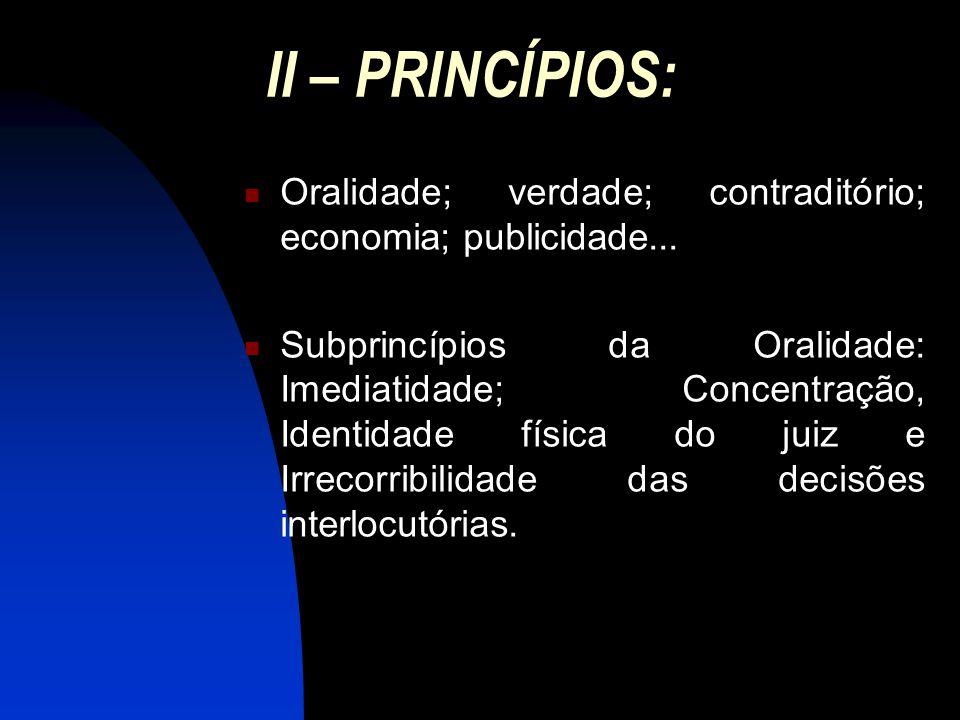 III – FINALIDADE Conciliação, Saneamento, Colheita de Prova Oral, Debates, Julgamento.