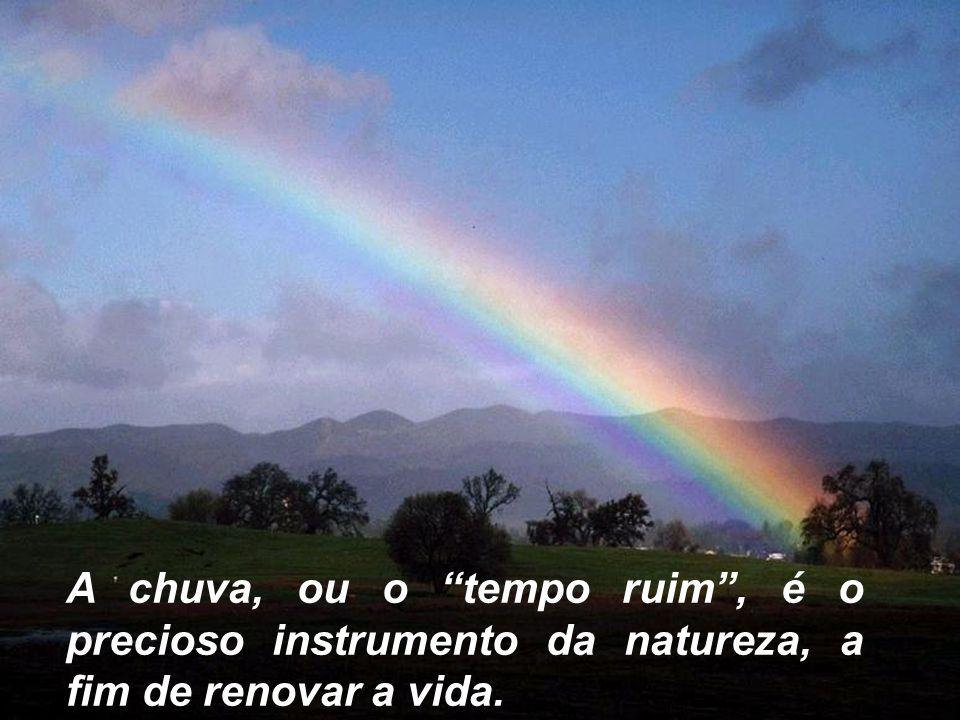 "A chuva, ou o ""tempo ruim"", é o precioso instrumento da natureza, a fim de renovar a vida."