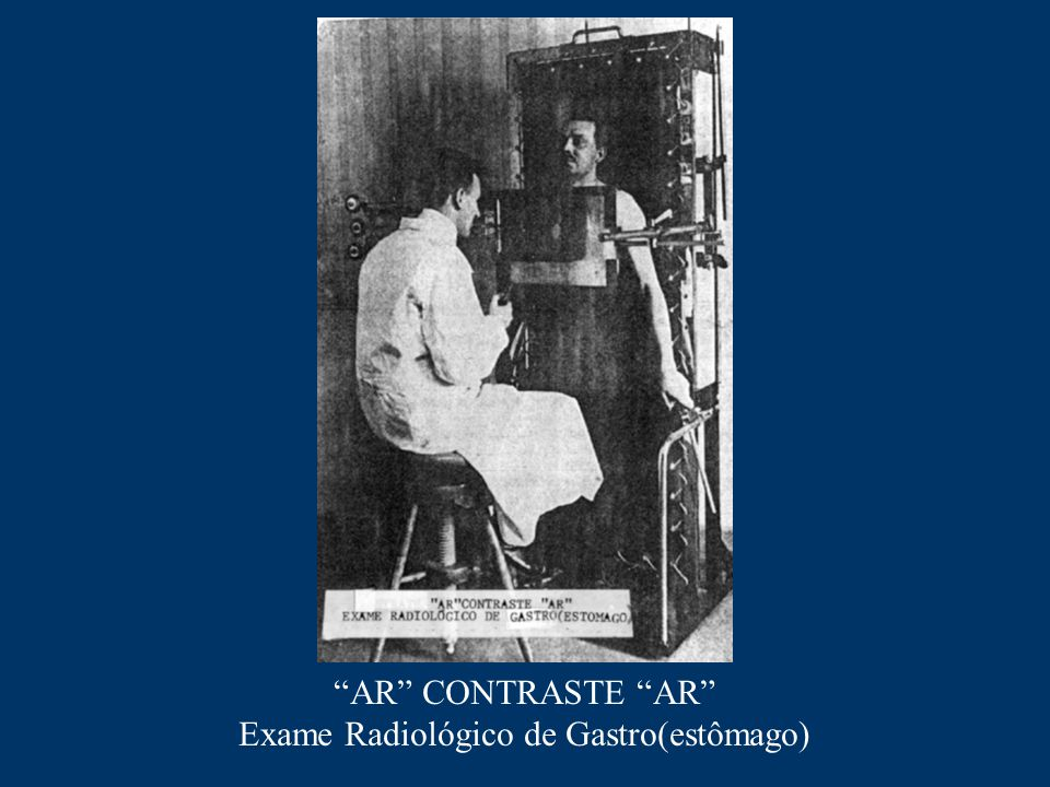 """AR"" CONTRASTE ""AR"" Exame Radiológico de Gastro(estômago)"
