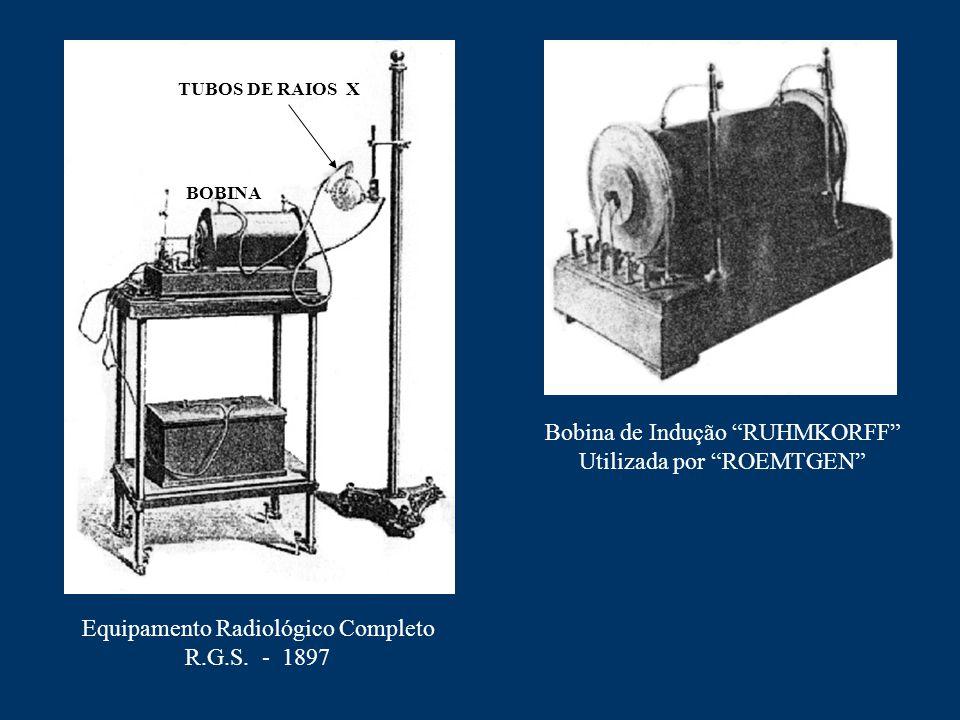 """Equipamento Radiológico Completo R.G.S. - 1897 Bobina de Indução """"RUHMKORFF"""" Utilizada por """"ROEMTGEN"""" BOBINA TUBOS DE RAIOS X"""