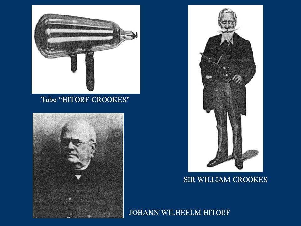 """Tubo """"HITORF-CROOKES"""" SIR WILLIAM CROOKES JOHANN WILHEELM HITORF"""