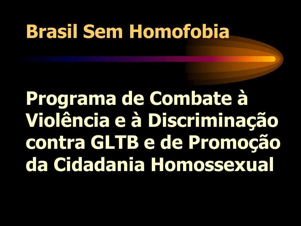OBJETIVO promover a cidadania de gays, lésbicas, travestis, transgêneros e bissexuais, a partir da equiparação de direitos e do combate à violência e à discriminação homofóbicas, respeitando a especificidade de cada um desses grupos populacionais.