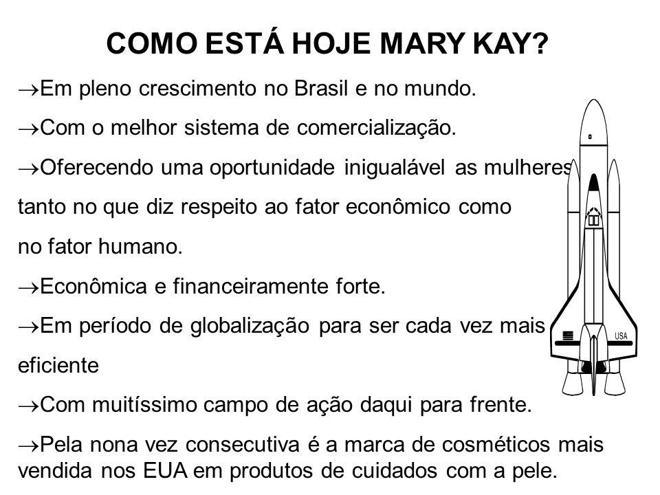 COMO ESTÁ HOJE MARY KAY. Em pleno crescimento no Brasil e no mundo.