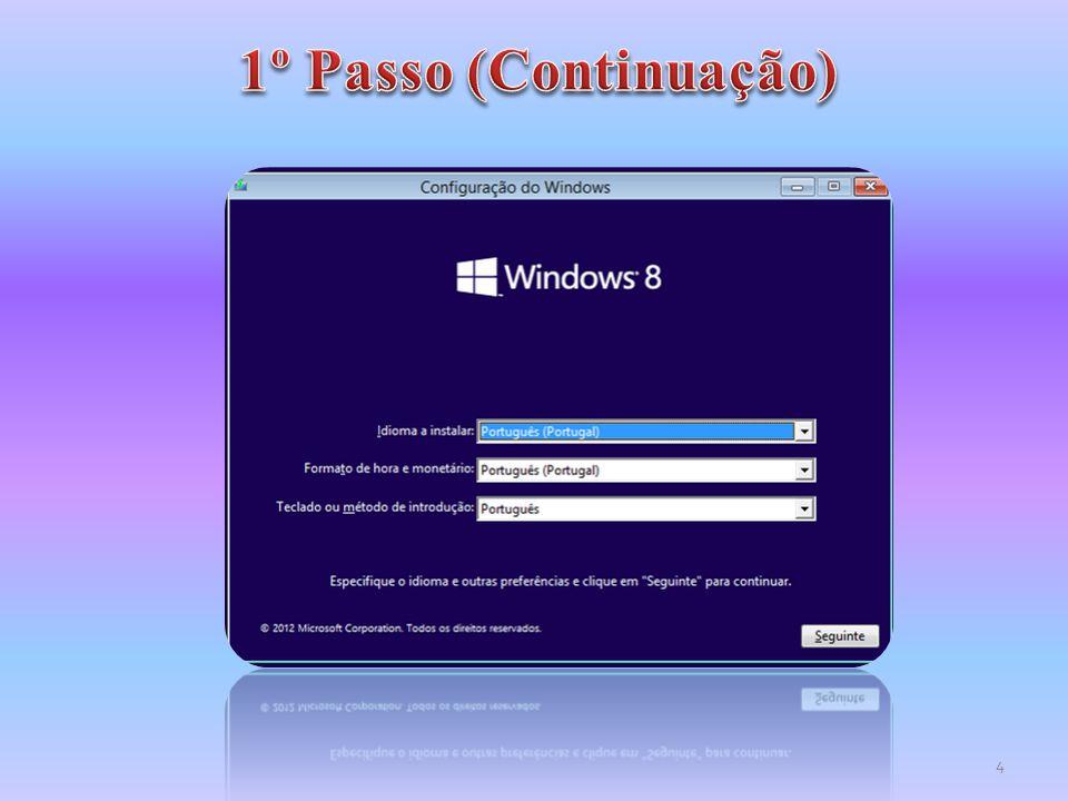 Como se observa pela imagem surgem duas partições, uma de 350MB com espaço reservado ao sistema e outra onde será instalado o Windows e restantes aplicações.