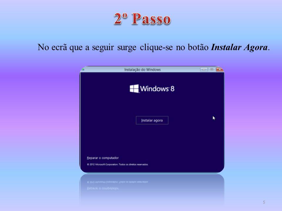 Agora irá iniciar-se o processo de instalação do Windows 8 que poderá levar alguns minutos pelo que se deve aguardar pacientemente.
