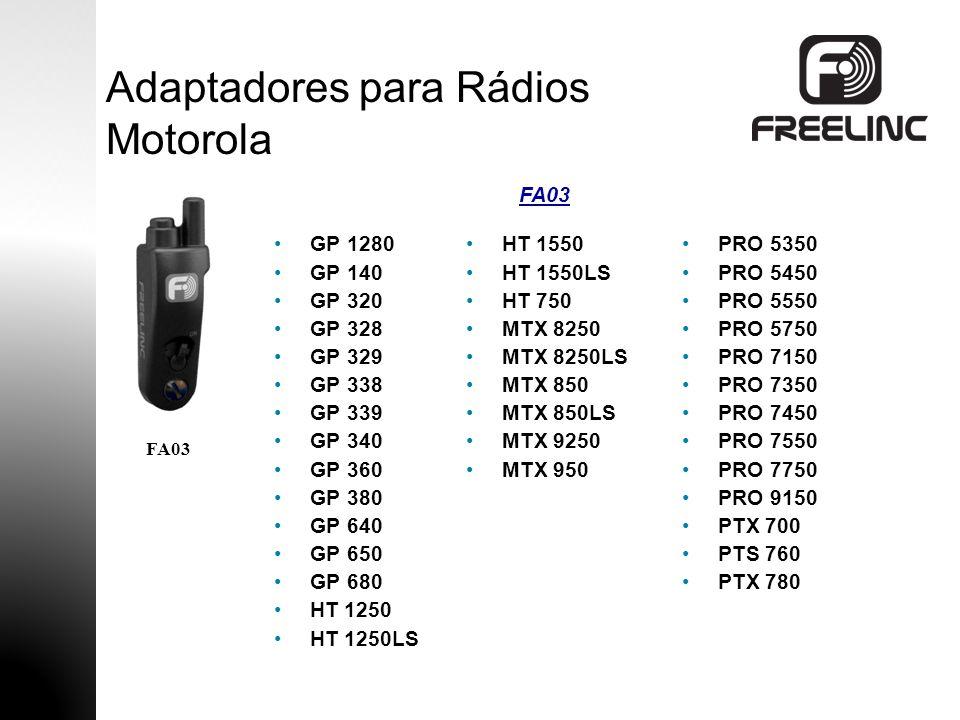 TK 2140 TK 3140 TK-2180 TK-3180 TK 5210 TK 5310 TK 5400 TK 280 TK 380 TK 480 TK 481 TK 190 TK 290 TK 390 NX 200 Adaptadores para Rádios Kenwood FA04 NX 300 NX 210 FA04