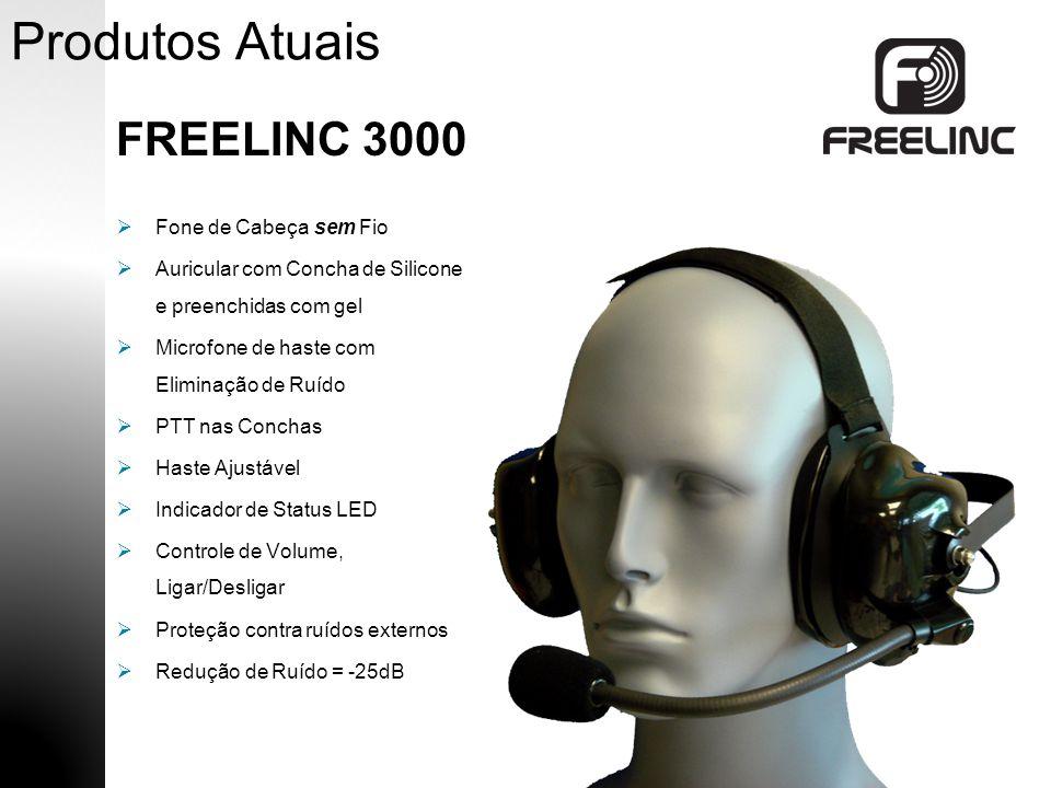 Produtos Atuais FREELINC 3000 Haste Ajustável Microfone com Eliminação de Ruído Controle de Volumen, Ligar/Desligar Concha de Silicone e Gel Correia Ajustável