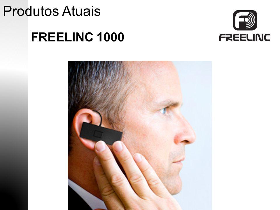 Produtos Atuais FREELINC 1000  Fone de Ouvido com Microfone sem fio  PTT  20 Horas de Uso  Carregador Magnético  Controle de Volumen  Suporte de Orelha