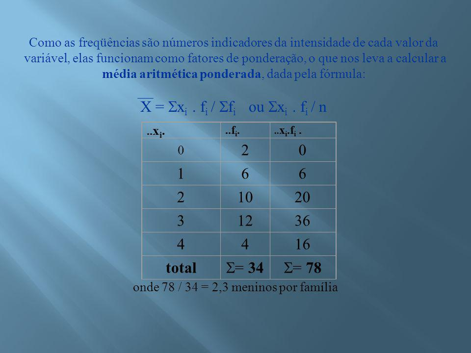 Se n for ímpar: Md será o termo de ordem (n + 1)/2 Se n for par: Md será a média dos termos de ordem n/2 e n/2 + 1