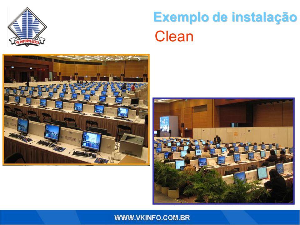 Exemplo de instalação Clean