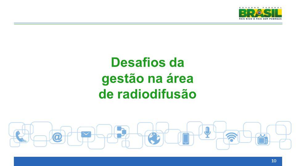 Desafios da gestão na área de radiodifusão 10