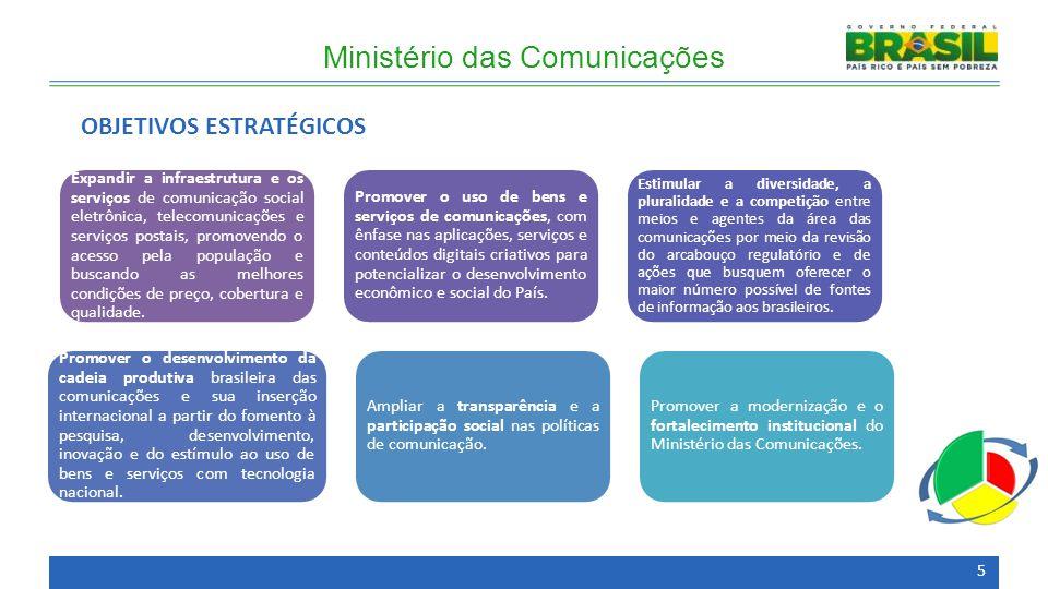 Expandir a infraestrutura e os serviços de comunicação social eletrônica, telecomunicações e serviços postais, promovendo o acesso pela população e bu
