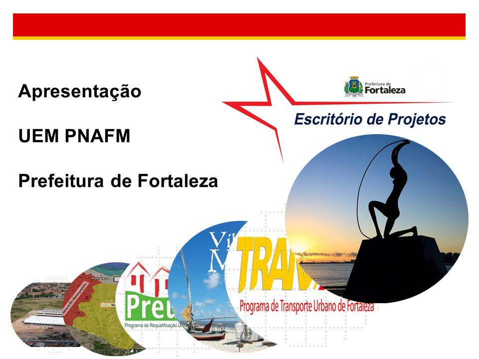 A UEM na Estrutura da Prefeitura de Fortaleza PNAFM como Assessoria Assessorias Especiais Alta Gestão Gabinete Prefeita Assessoria Institucional COOPERIIPNAFM Coordenadoria das Secretarias Regionais