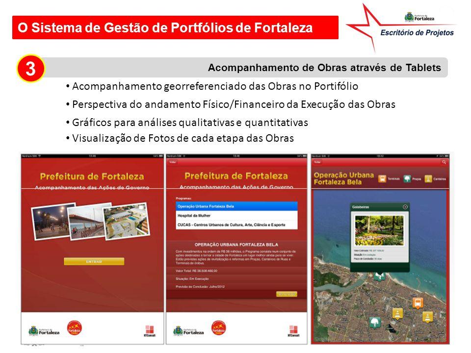 O Sistema de Gestão de Portfólios de Fortaleza Acompanhamento de Obras através de Tablets 3 Acompanhamento georreferenciado das Obras no Portifólio Pe