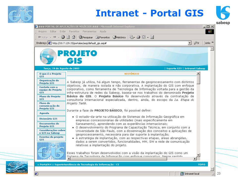 20 Intranet - Portal GIS