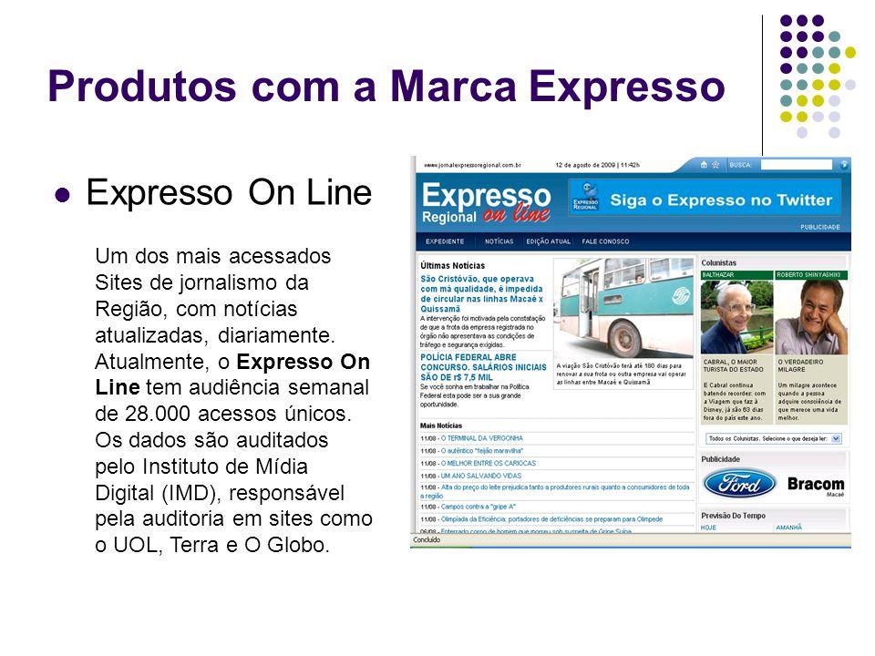 Produtos com a Marca Expresso Expresso On Line Um dos mais acessados Sites de jornalismo da Região, com notícias atualizadas, diariamente. Atualmente,