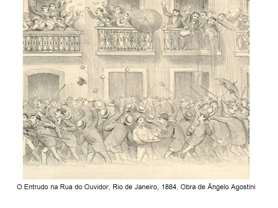 O Entrudo na Rua do Ouvidor, Rio de Janeiro, 1884. Obra de Ângelo Agostini