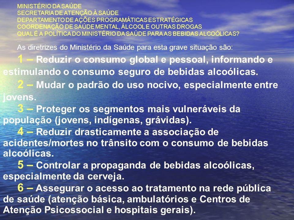MINISTÉRIO DA SAÚDE SECRETARIA DE ATENÇÃO À SAÚDE DEPARTAMENTO DE AÇÕES PROGRAMÁTICAS ESTRATÉGICAS COORDENAÇÃO DE SAÚDE MENTAL, ÁLCOOL E OUTRAS DROGAS