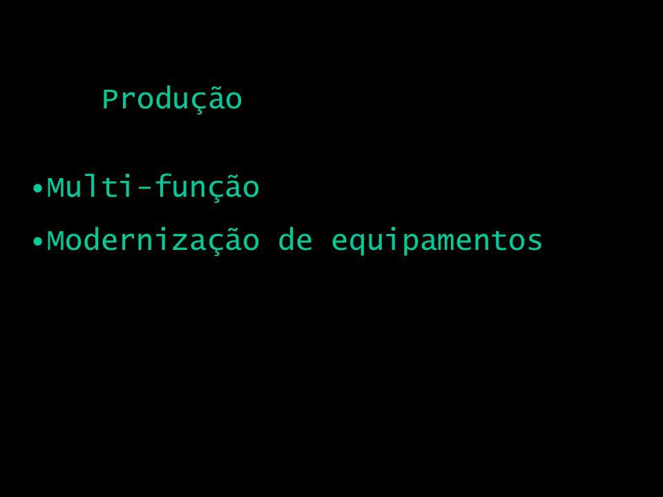 Produção Multi-função Modernização de equipamentos