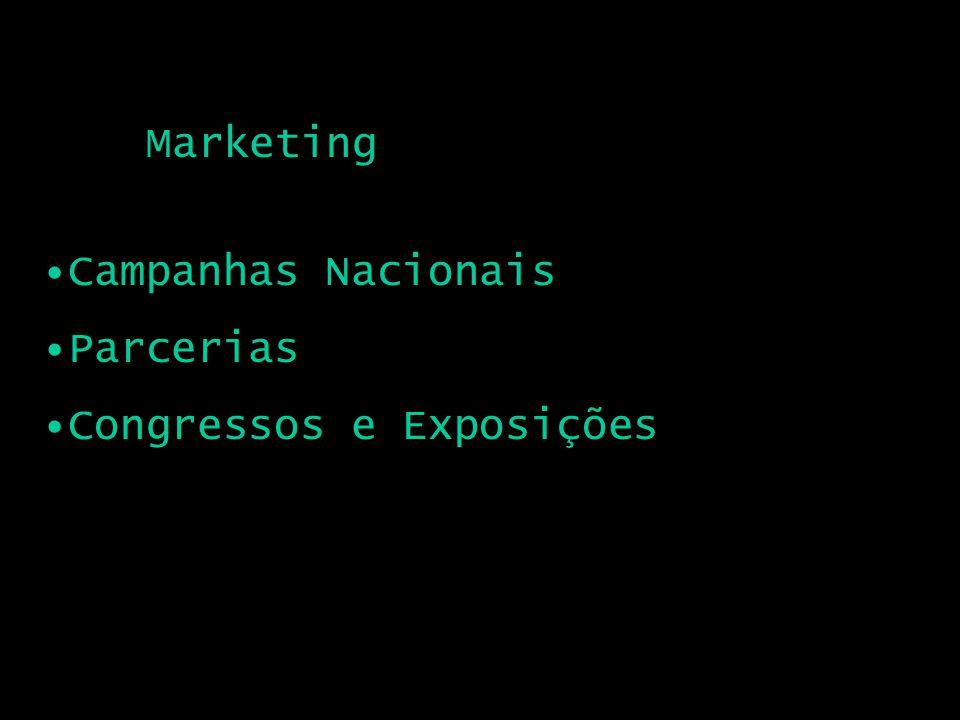 Marketing Campanhas Nacionais Parcerias Congressos e Exposições