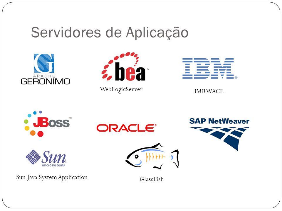 Servidores de Aplicação WebLogicServer IMB WACE Sun Java System Application GlassFish