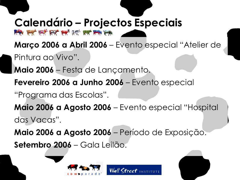 """Calendário – Projectos Especiais Março 2006 a Abril 2006 – Evento especial """"Atelier de Pintura ao Vivo"""". Maio 2006 – Festa de Lançamento. Fevereiro 20"""
