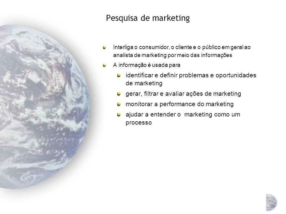 Sistema de informação de marketing global Um meio de coletar, analisar e reportar dados relevantes para abastecer gerentes e outros tomadores de decis