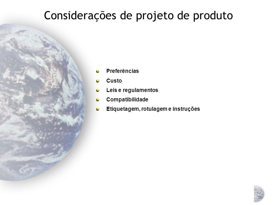 Níveis de saturação de produto em mercados globais Muitos fatores determinam o potencial de mercado de um produto O nível de saturação do produto aume