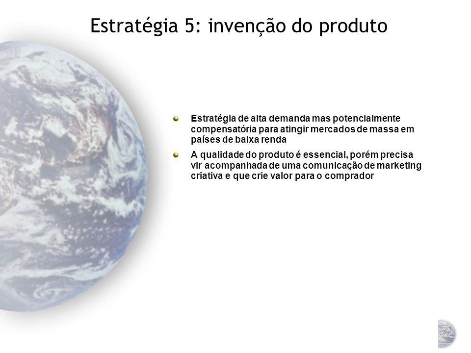Estratégia 4: adaptação do produto/ comunicação (dupla adaptação) Para usar a dupla adaptação a empresa precisa adaptar o produto assim como a comunicação de marketing ao mercado estrangeiro Exemplo: Unilever
